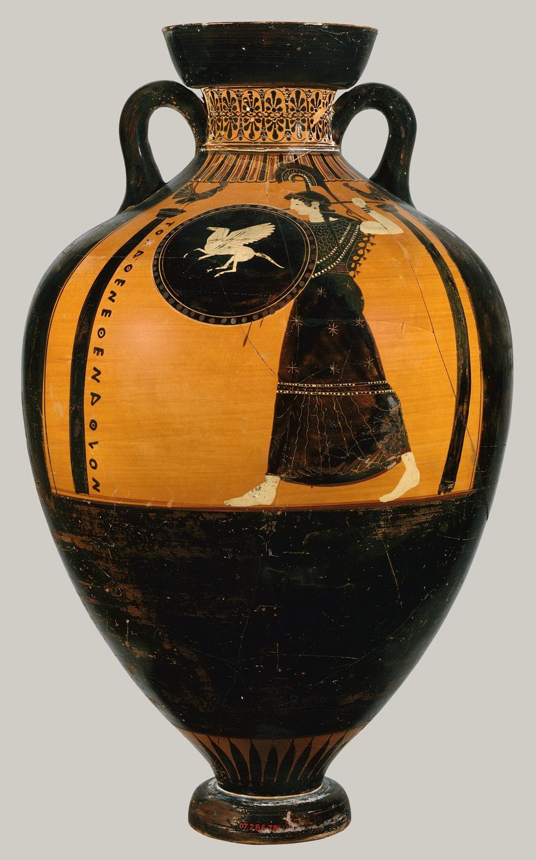 Terracotta Panathenaic Prize Amphora Kleophrades Painter