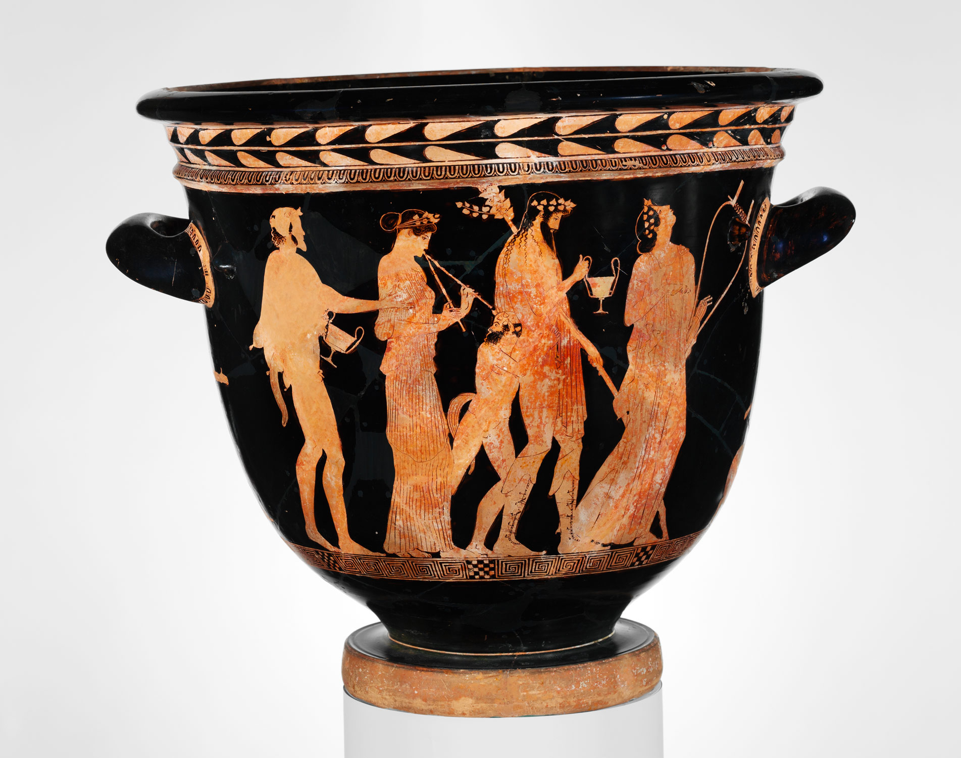 Terracotta bell‑krater (bowl for mixing wine and water)