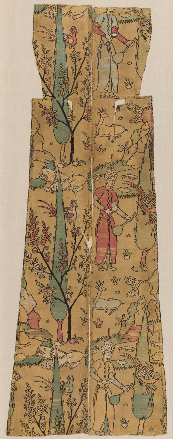 Textile Fragment Depicting a Figure in a Landscape