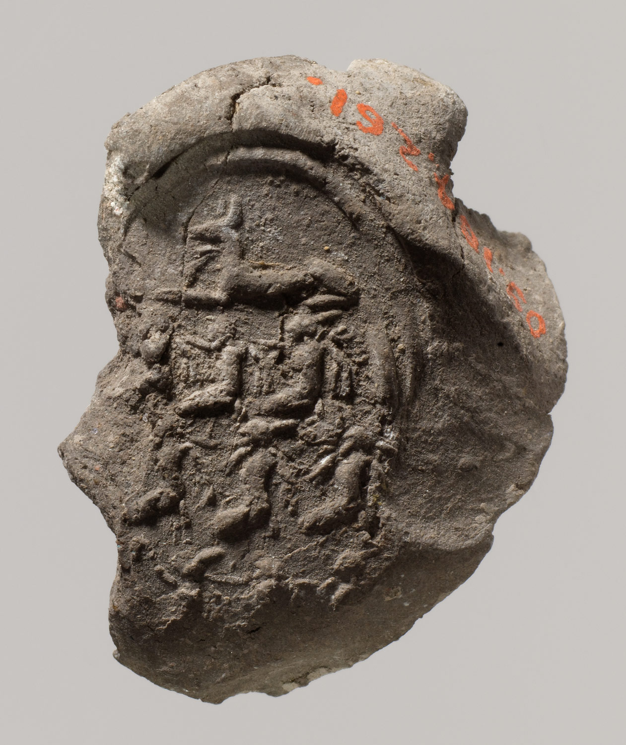 Fragmentary Impression of the Necropolis Seal from Tutankhamuns Embalming Cache