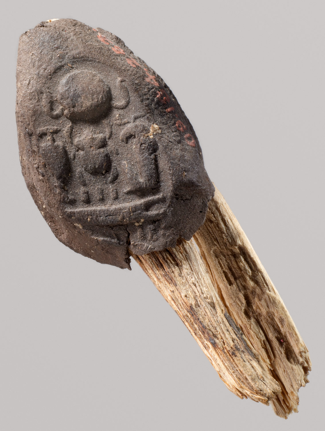 Seal Impression Attatched to a Fiber Tie from Tutankhamuns Embalming Cache