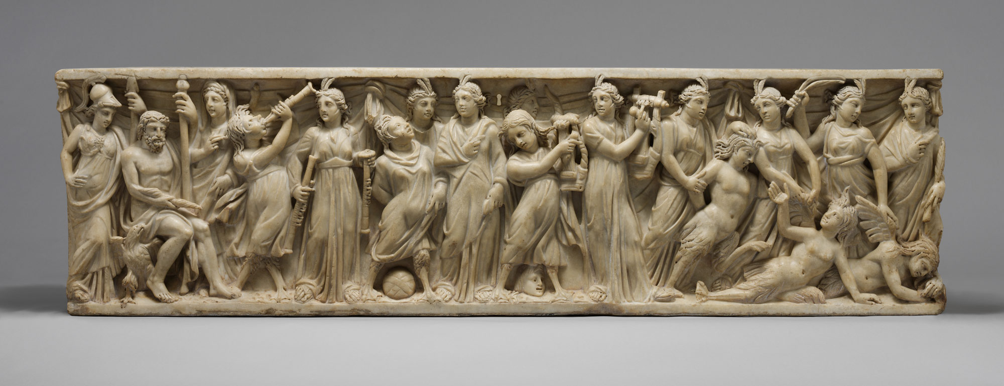 Sarcophagus with the contest between the Muses and the Sirens