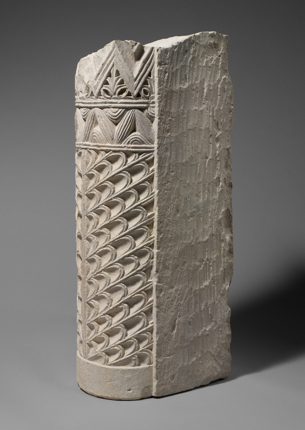 Fragment of a Door Jamb with Geometric and Vegetal Motifs
