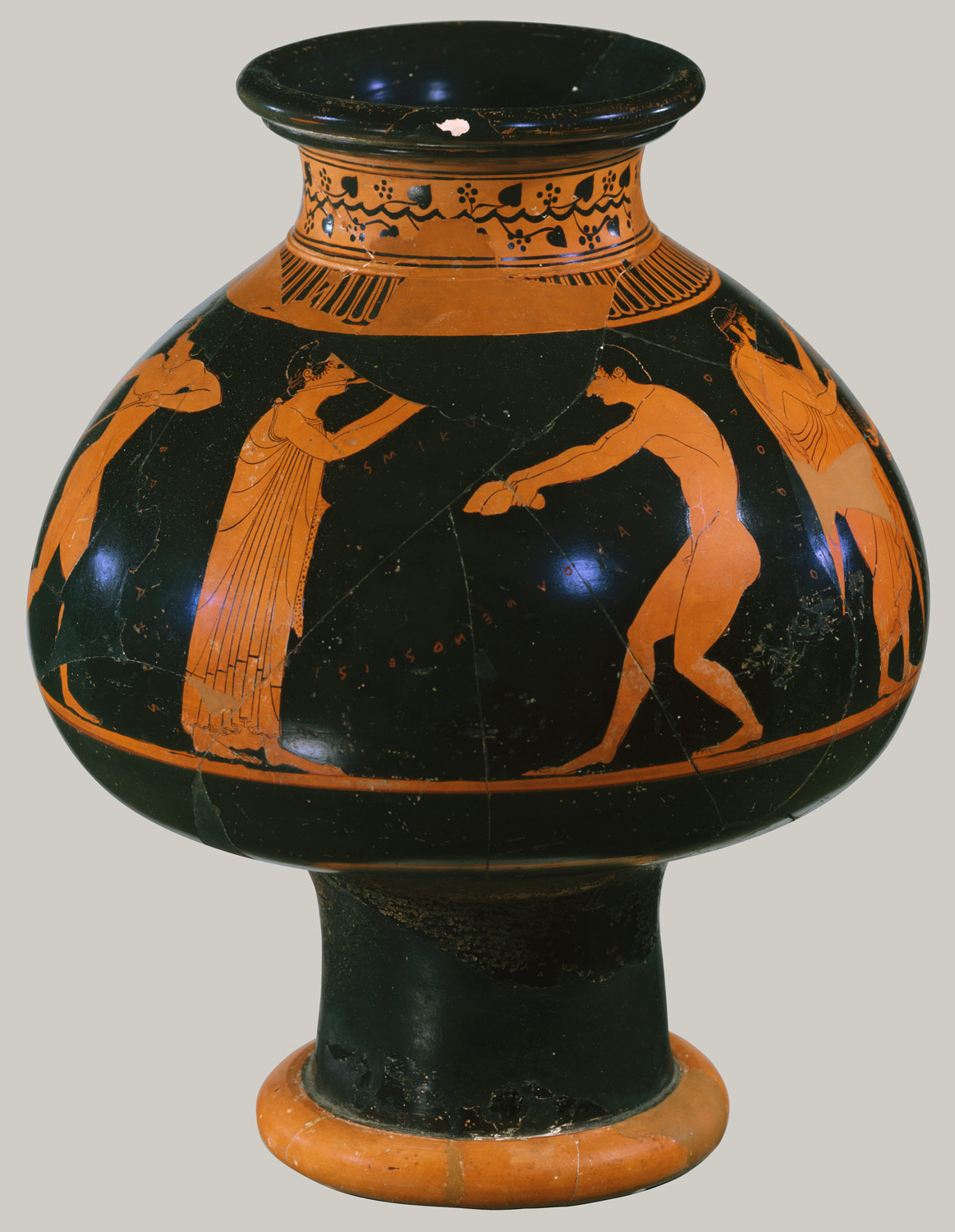 Terracotta Psykter Vase For Cooling Wine Attributed To