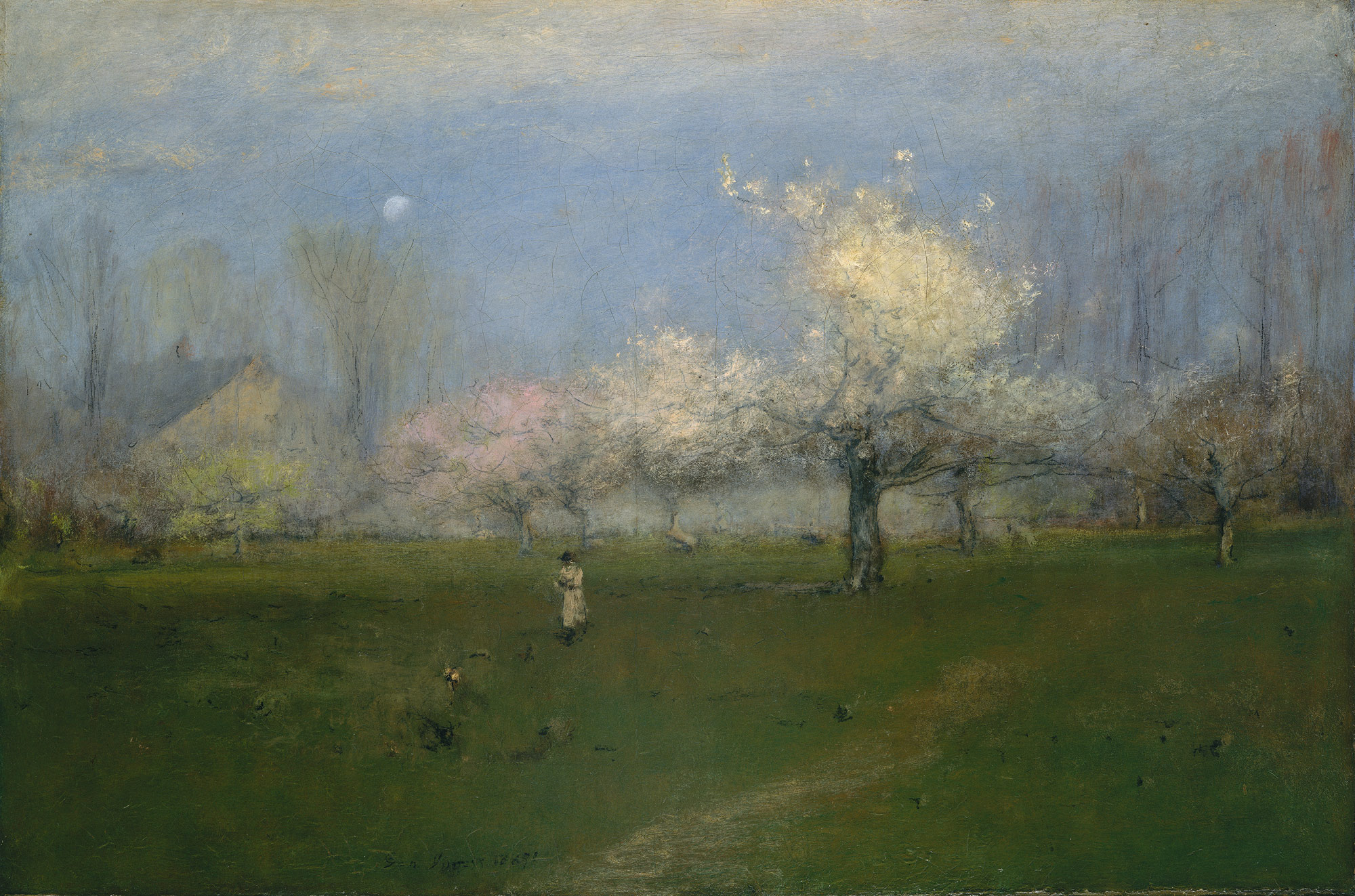 George Inness: Spring Blossoms