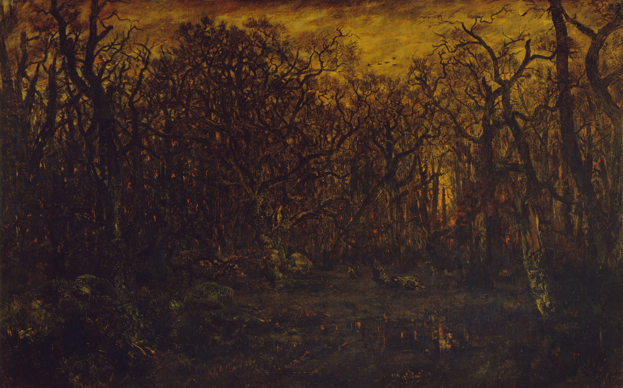 the barbizon school french painters of nature essay heilbrunn the forest in winter at sunset