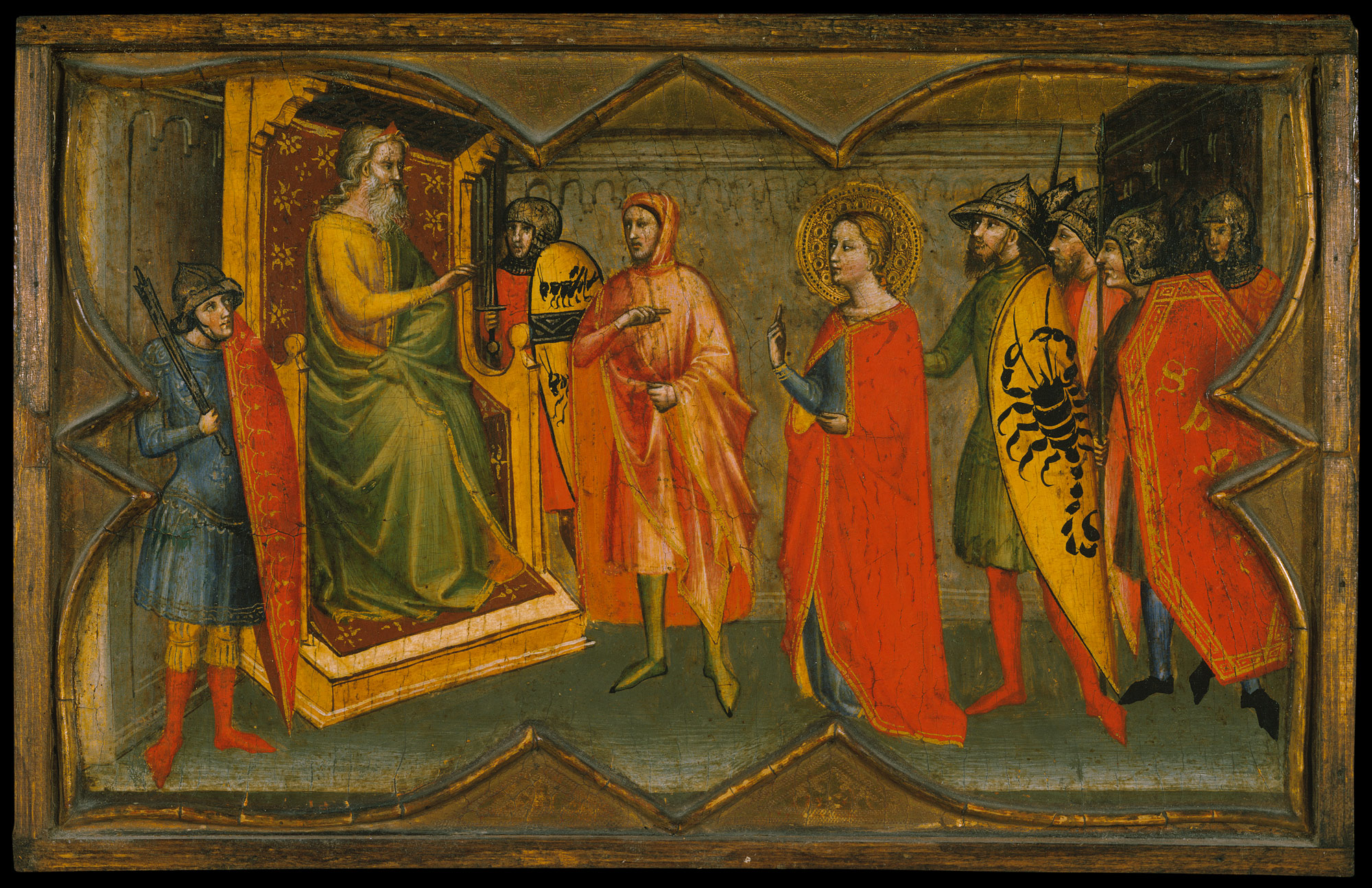 Saint Lucy And Her Mother At The Shrine Of Agatha Giving Alms