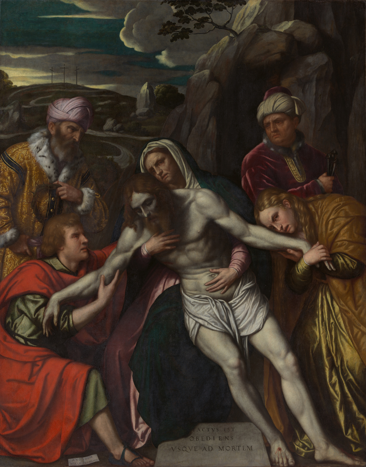 the crucifixion and passion of christ in italian painting essay the entombment