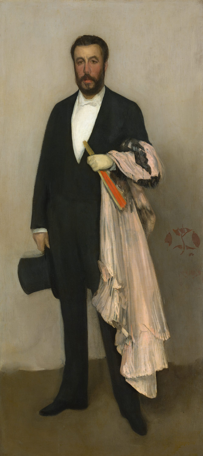 Arrangement in Flesh Colour and Black: Portrait of Theodore Duret,  				ArtistJames McNeill Whistler,Paintings