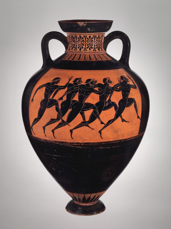 Terracotta panathenaic prize amphora attributed to the terracotta panathenaic prize amphora floridaeventfo Image collections