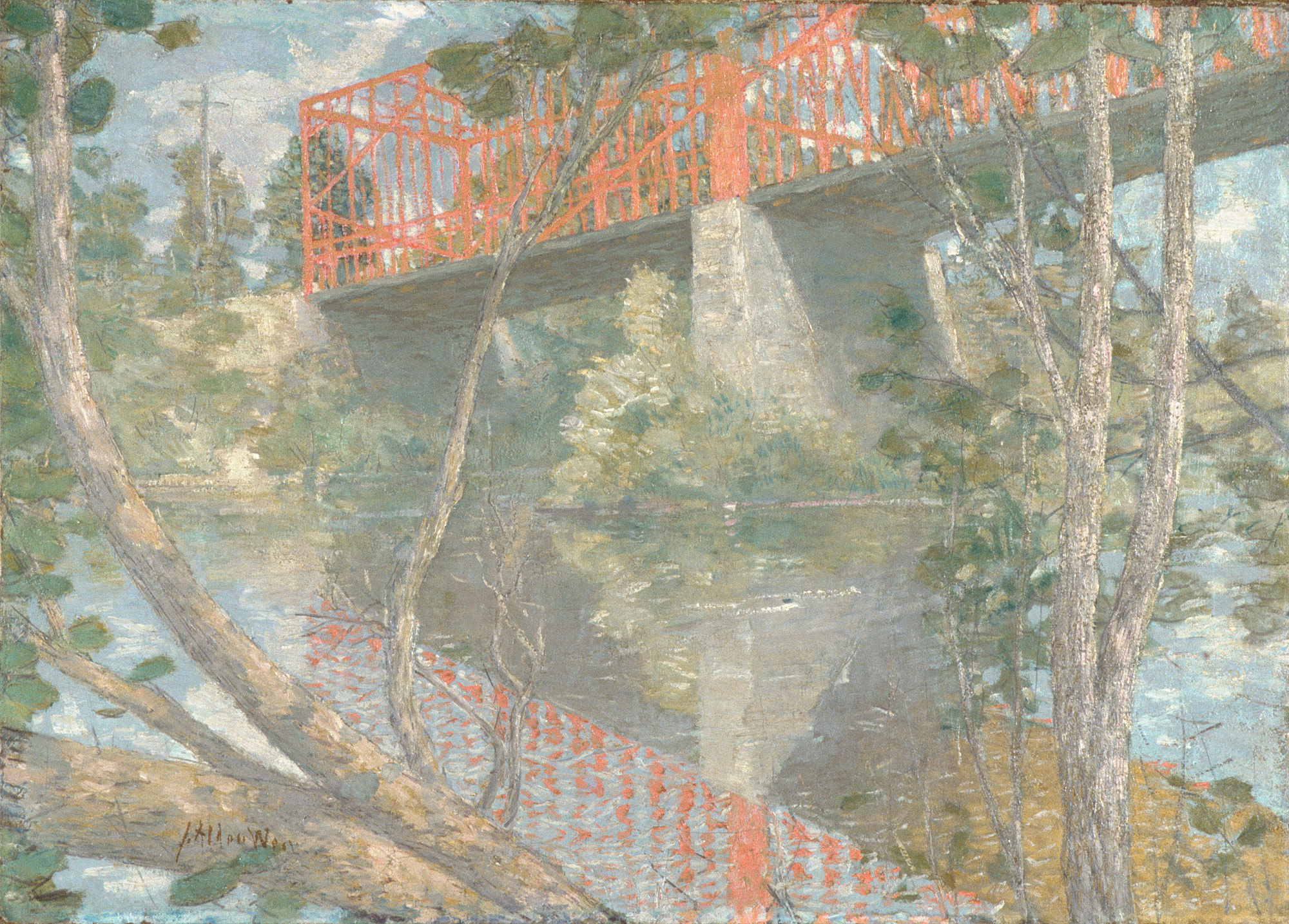 The Red Bridge | Julian Alden Weir | 14 141 | Work of Art