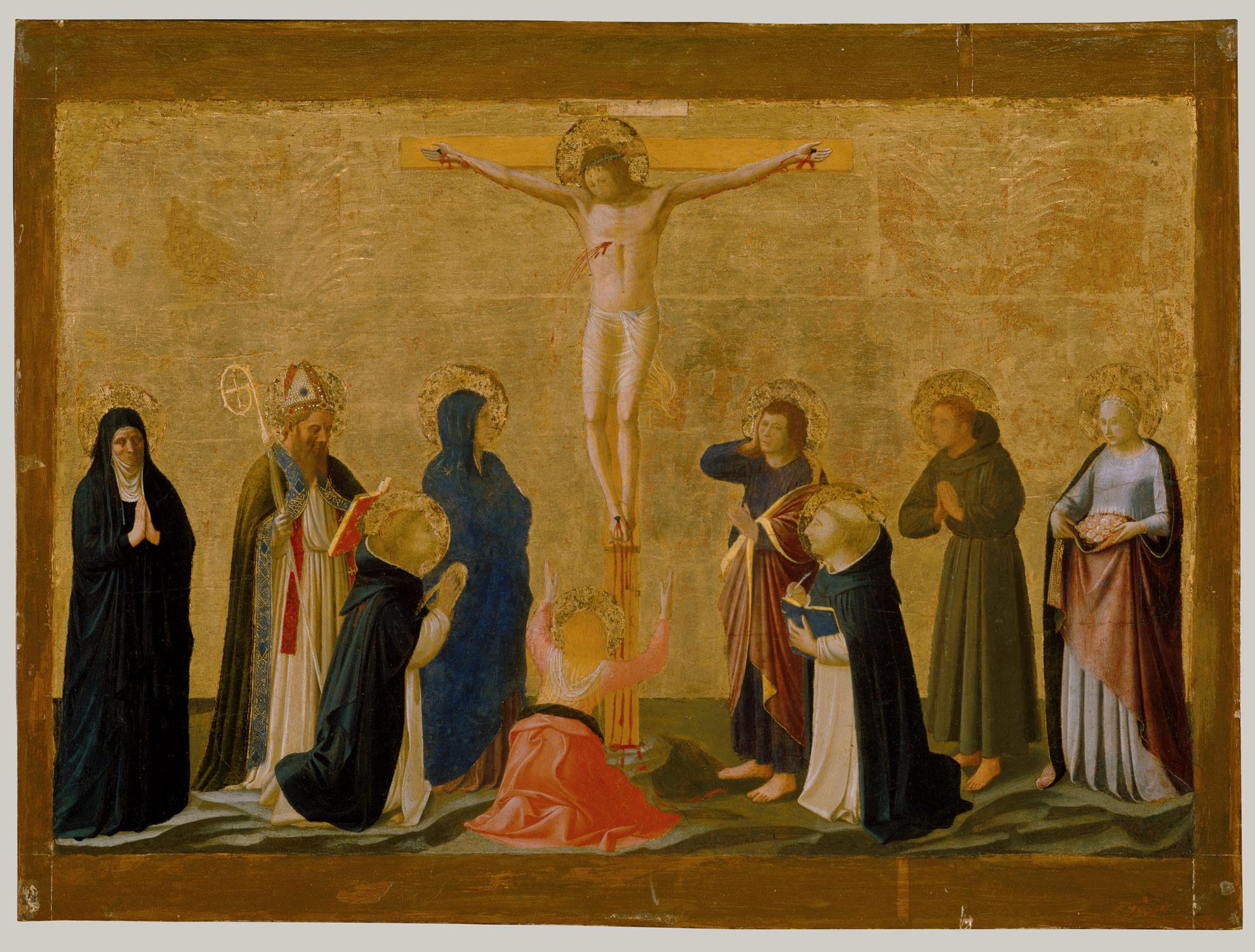 La crucifixión, Fra Angelico (+1455)