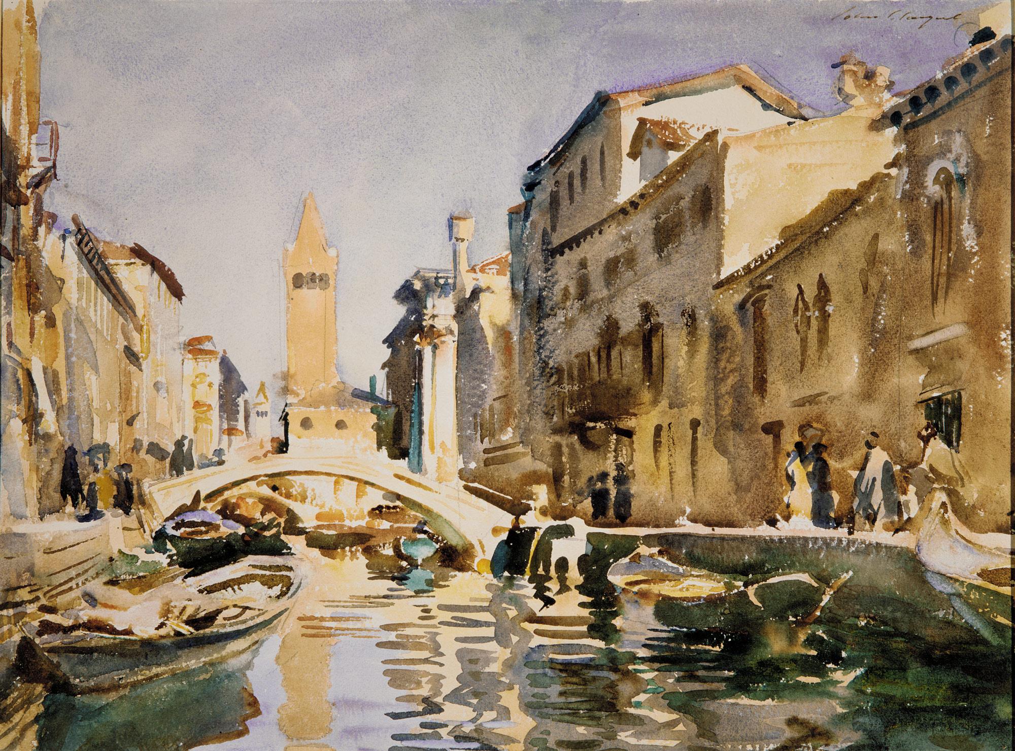 Watercolor art history - Venetian Canal