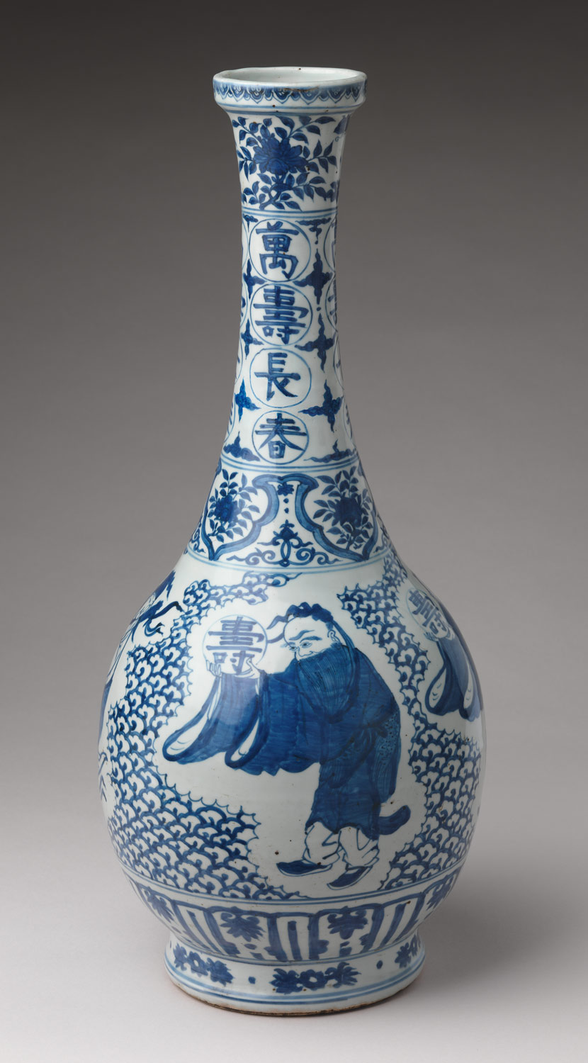 Bottle with Daoist Immortals