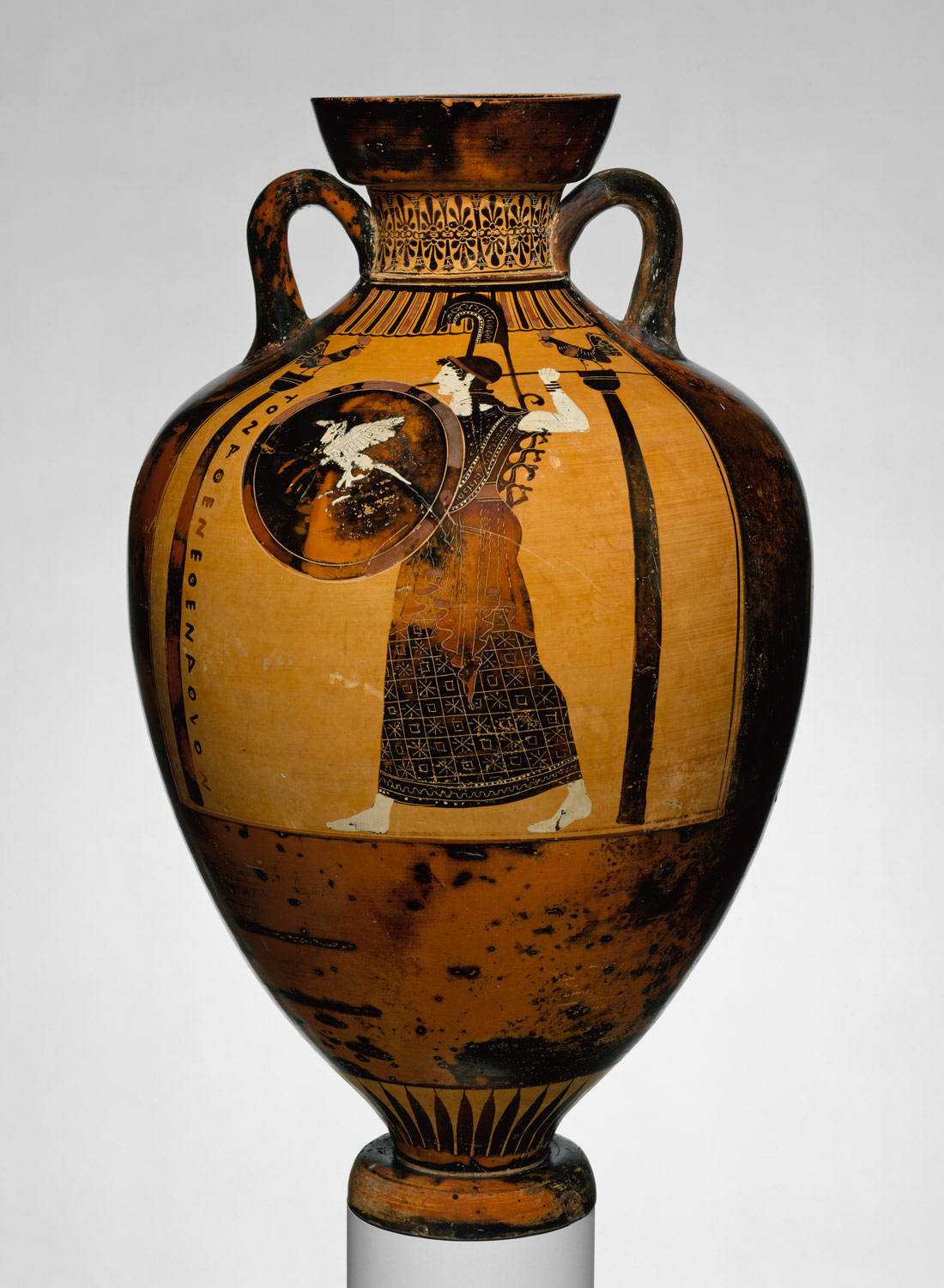 Terracotta Panathenaic Prize Amphora Attributed To The Kleophrades Painter 16 71 Work Of