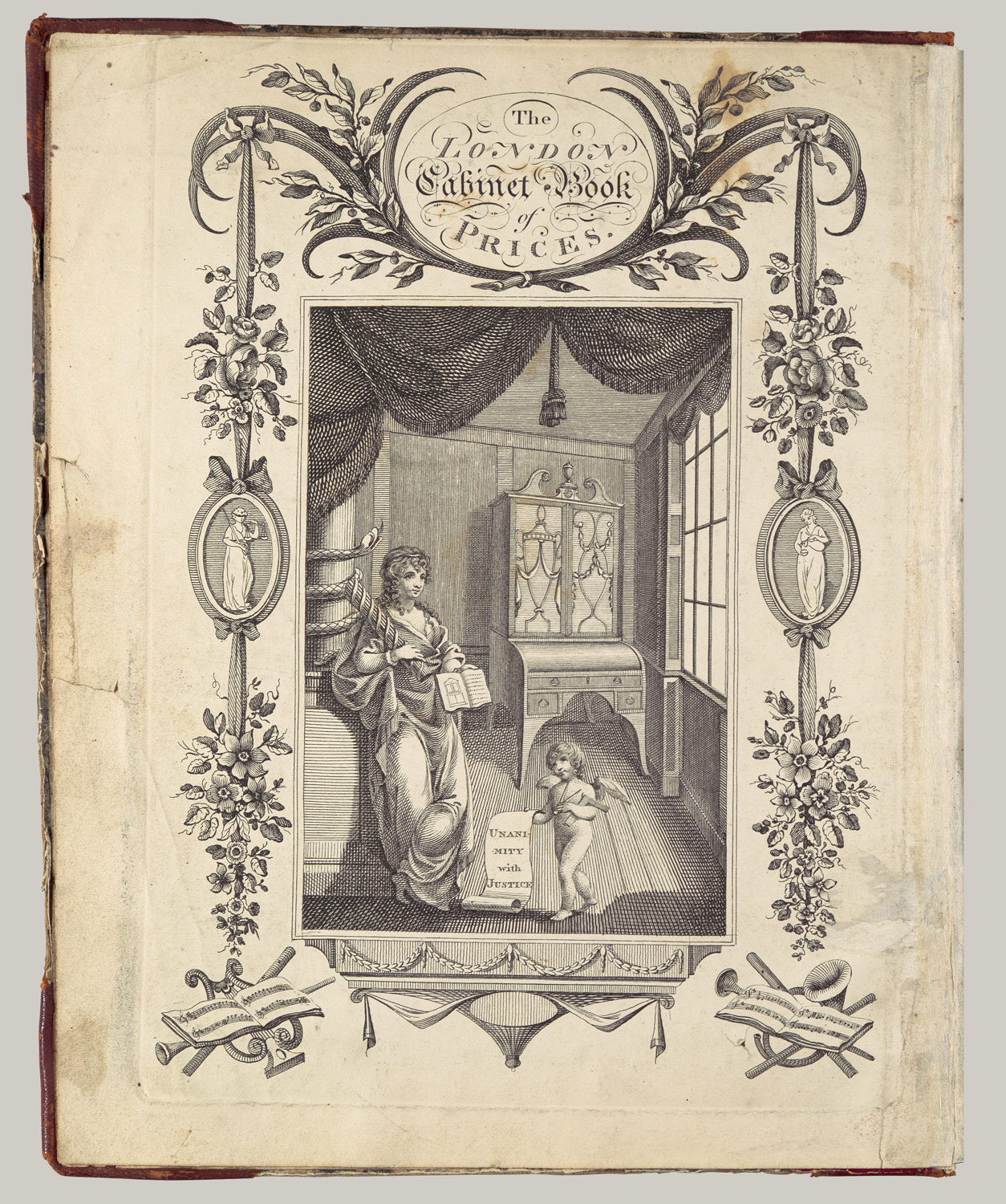 The Cabinet-Makers London Book of Prices: Frontispiece, title page, plates 1 and 6