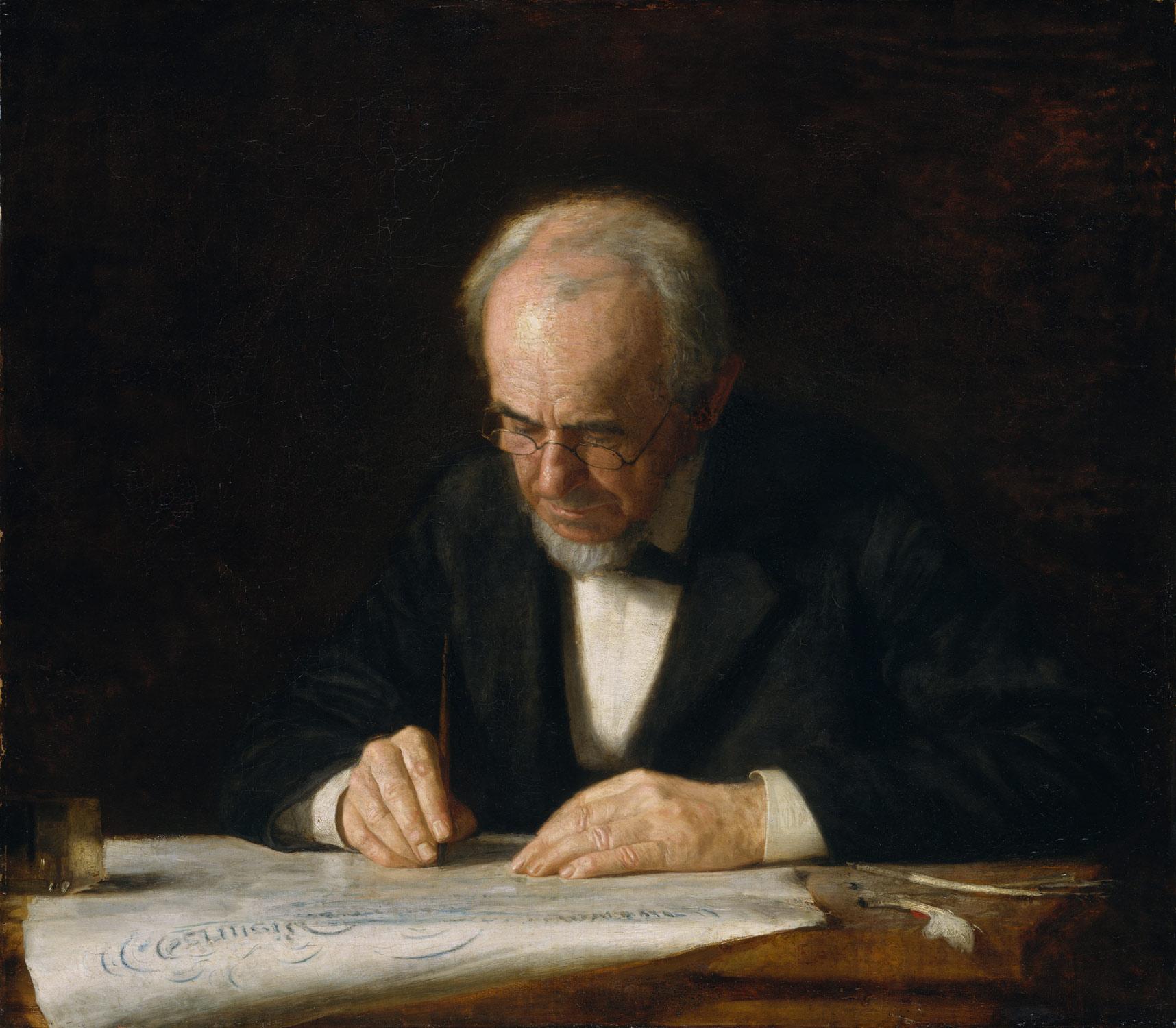 the writing master thomas eakins work of art the writing master