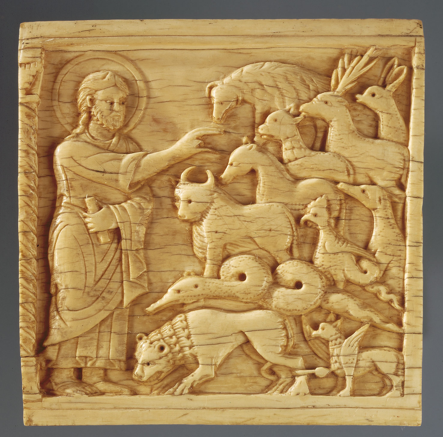 Plaque with God Creating the Animals