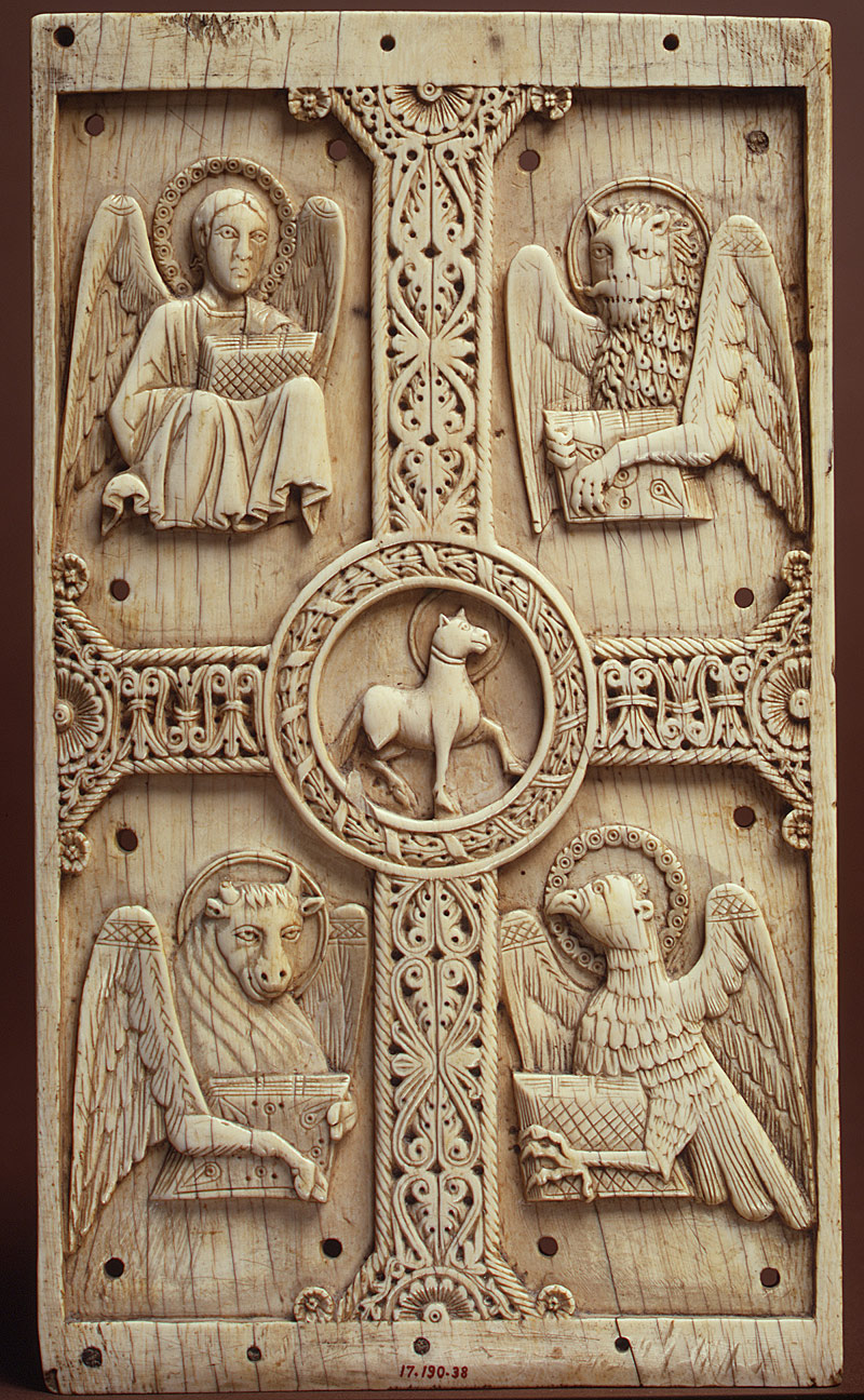 Animals in medieval art essay heilbrunn timeline of art plaque with agnus dei on a cross between emblems of the four evangelists biocorpaavc Image collections