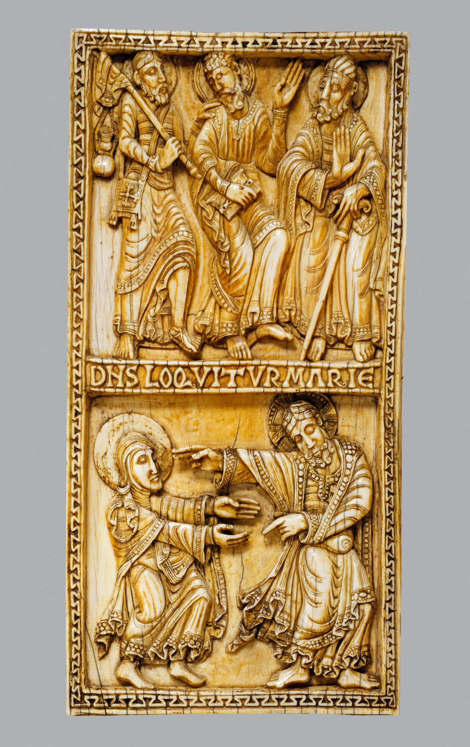 Plaque with the Journey to Emmaus and Noli Me Tangere