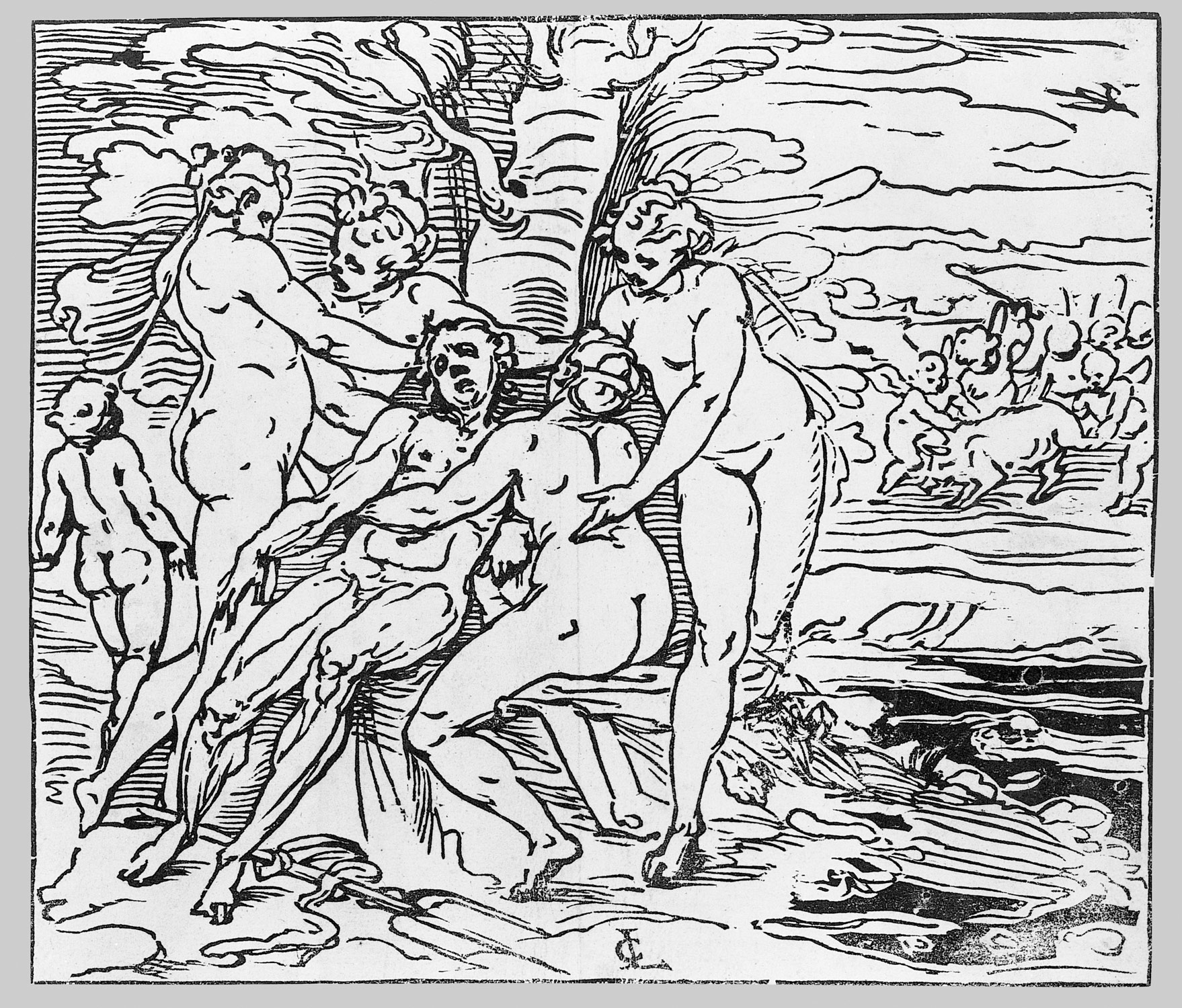 Venus and the Nymphs Lamenting the Death of Adonis