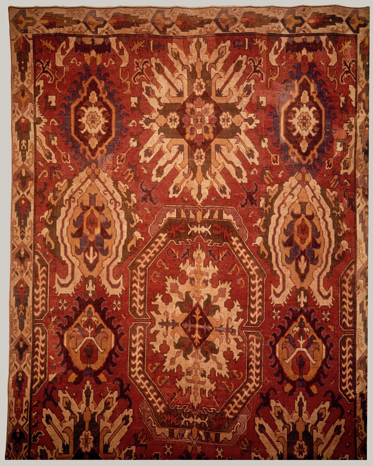 Carpet with Geometricized Floral Design