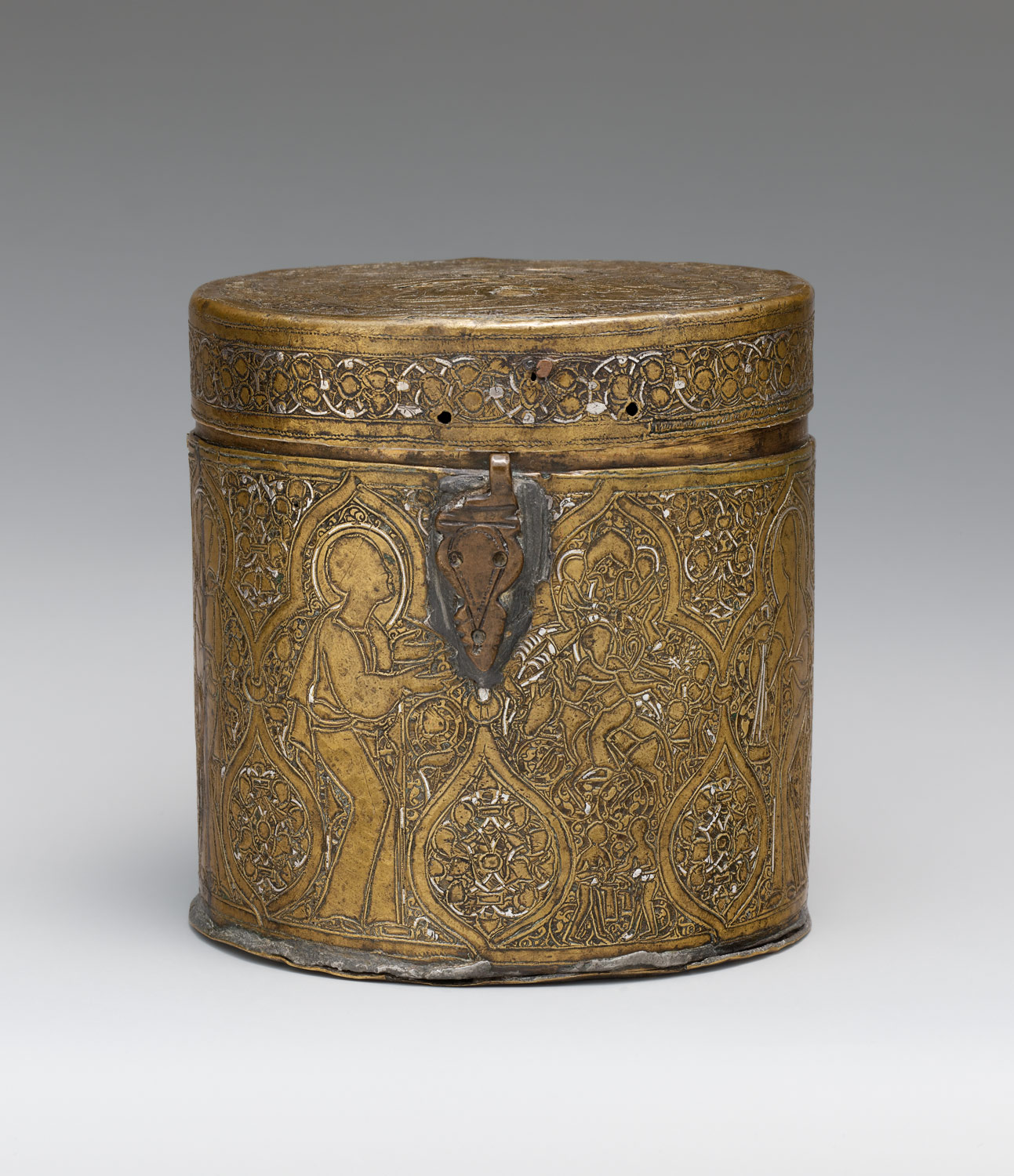 Pyxis depicting Christs Entry into Jerusalem