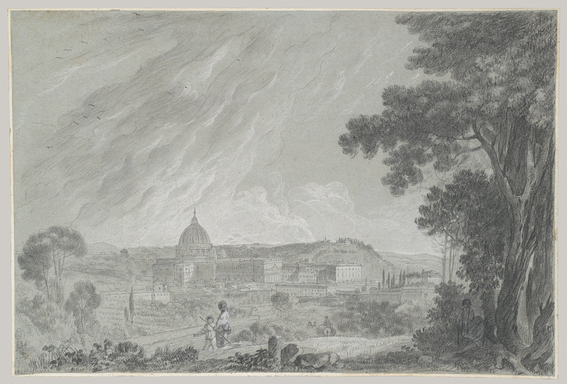 View of St. Peters and the Vatican from the Janiculum (Gianicolo)