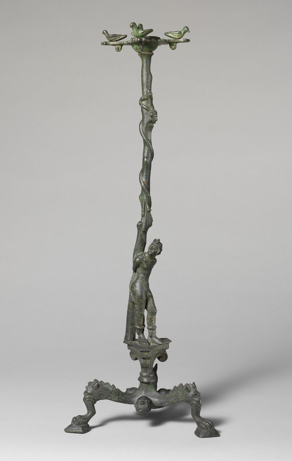 Bronze thymiaterion (incense burner) with Marsyas