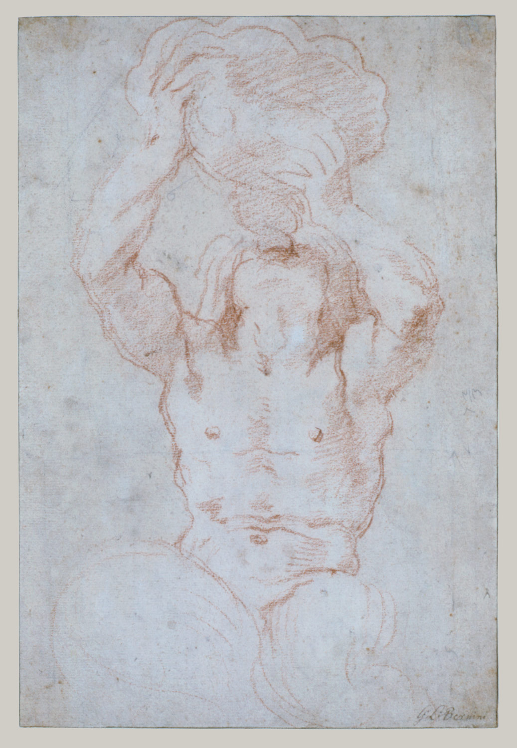 Study for a Triton (recto); Anatomical Studies (?) (verso)