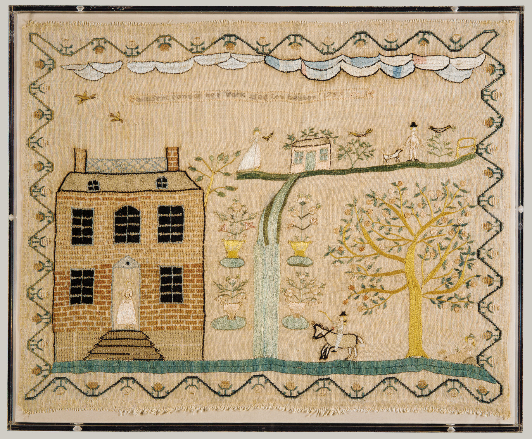 american needlework in the eighteenth century essay heilbrunn embroidered sampler