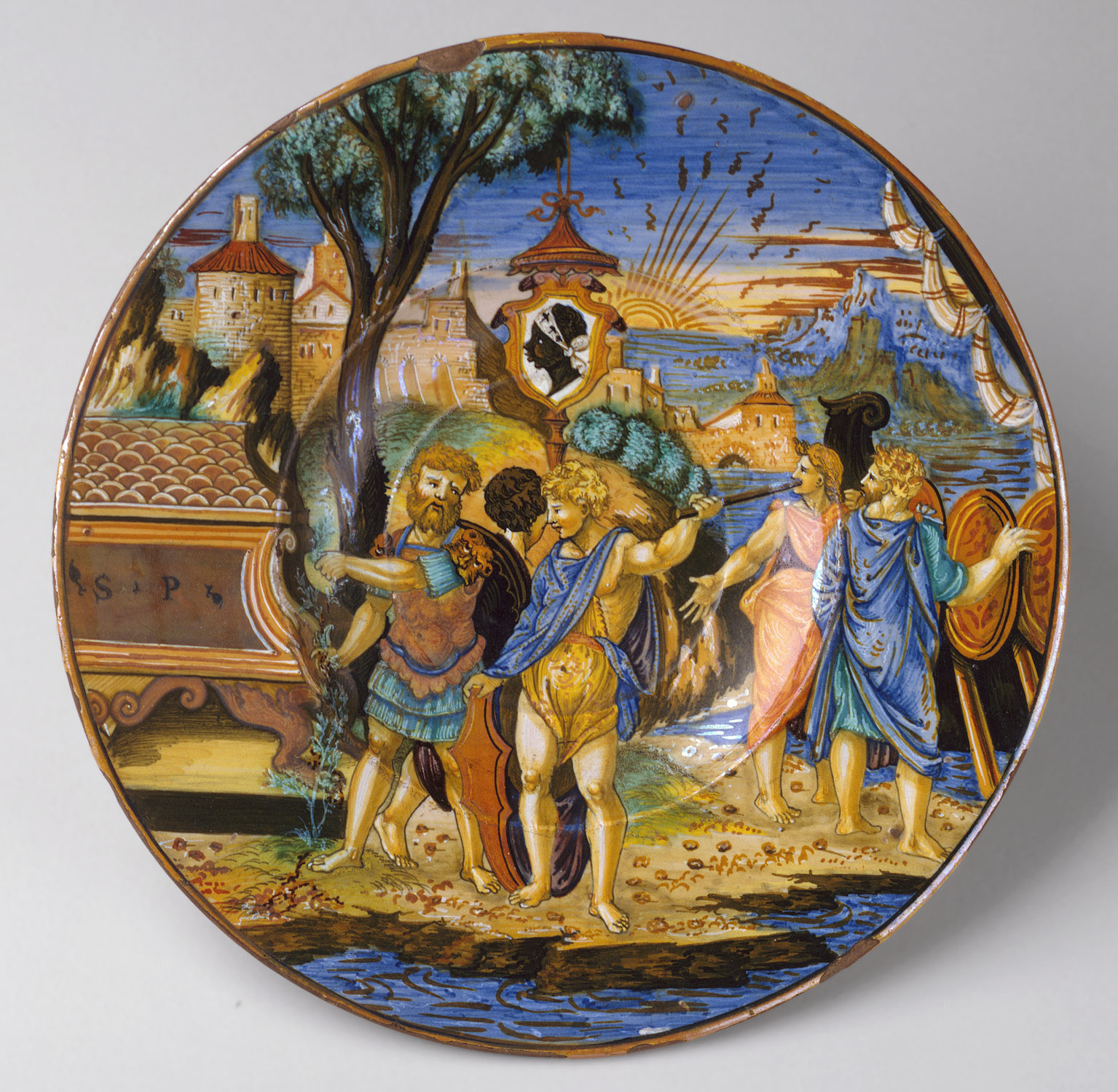 Plate (piatto): The story of Aeneas
