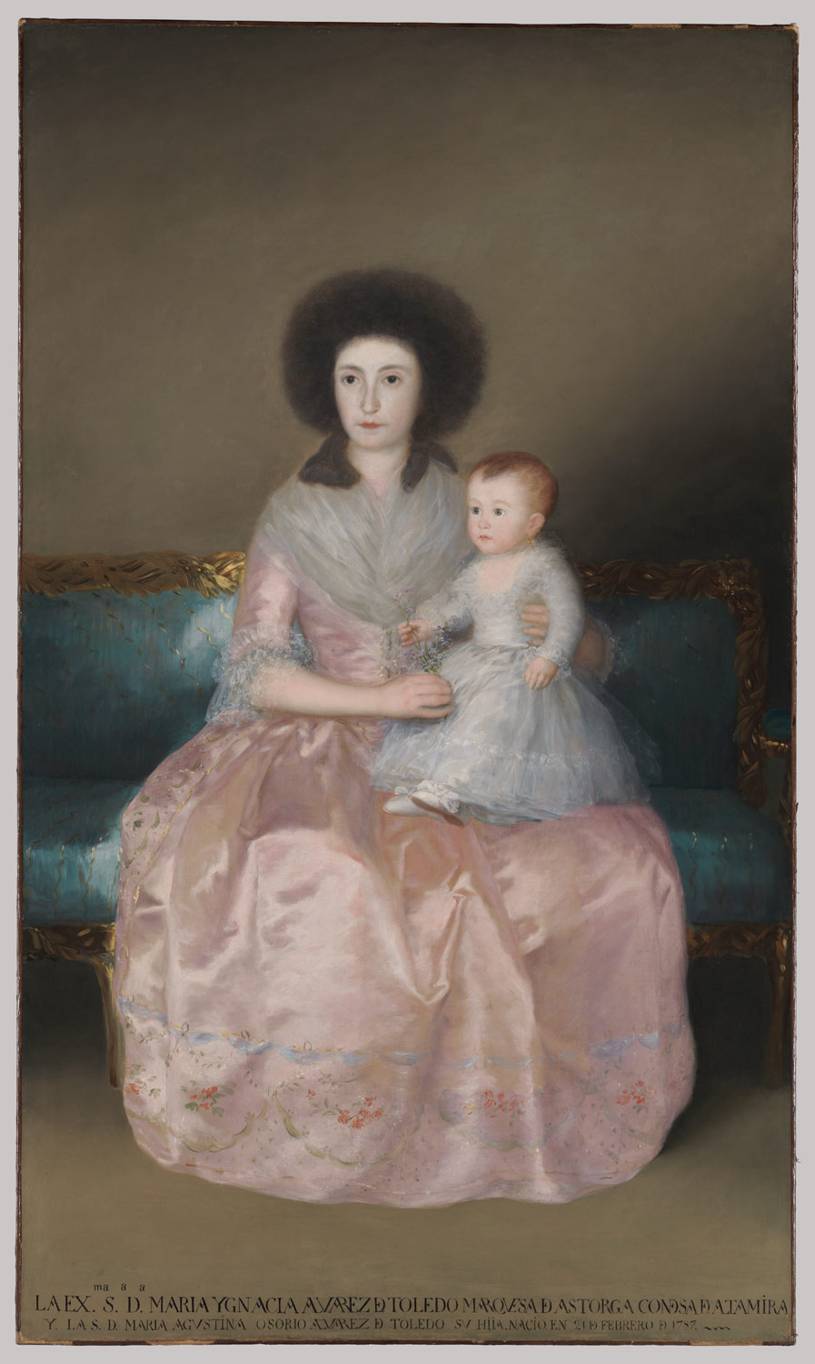 Condesa de Altamira and Her Daughter, Maria Agustina