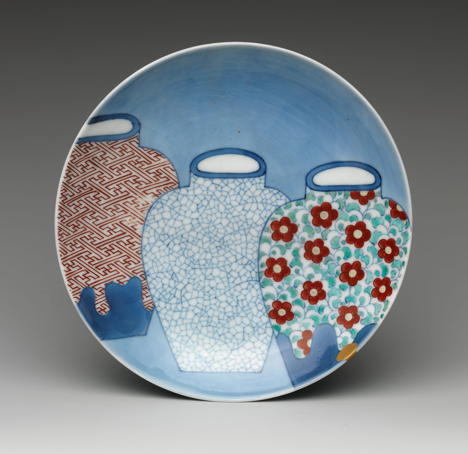 Dish with Three Jars
