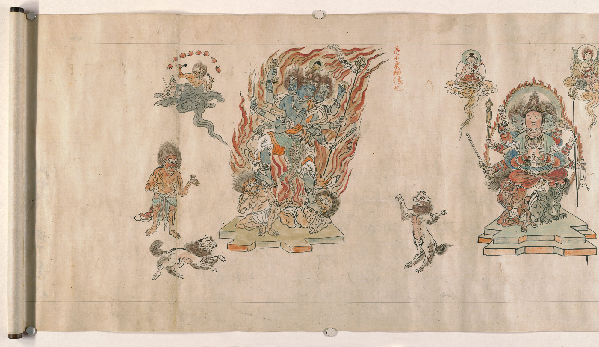 kings of brightness in ese esoteric buddhist art essay   iconographic drawings of five myoo
