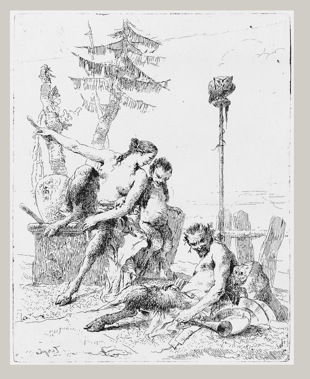 Satyr Family (Pan and his Family), from the Scherzi