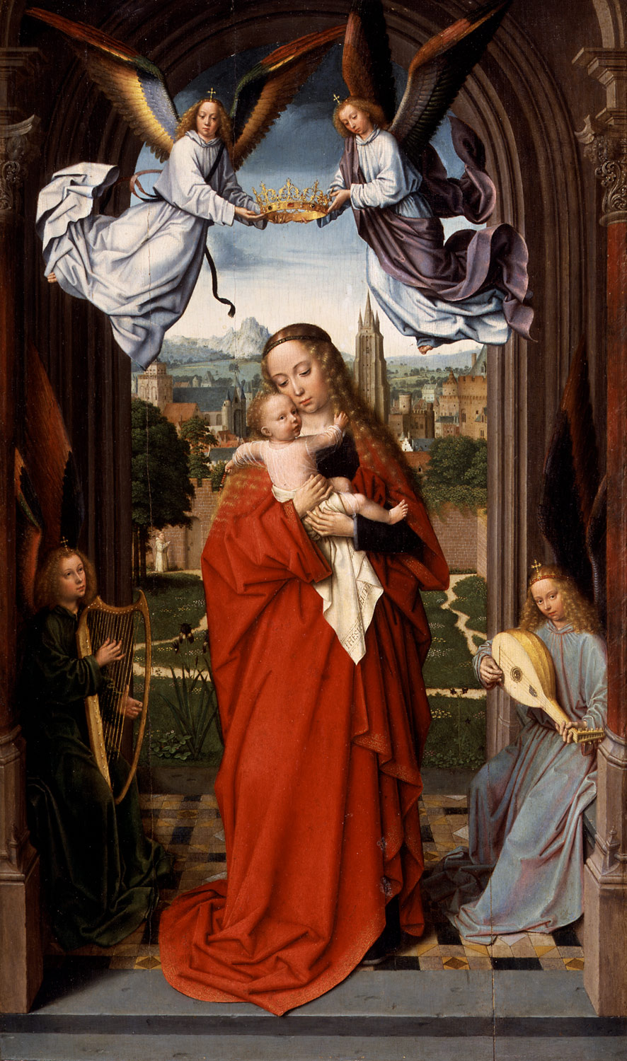 Virgin and Child with Four Angels
