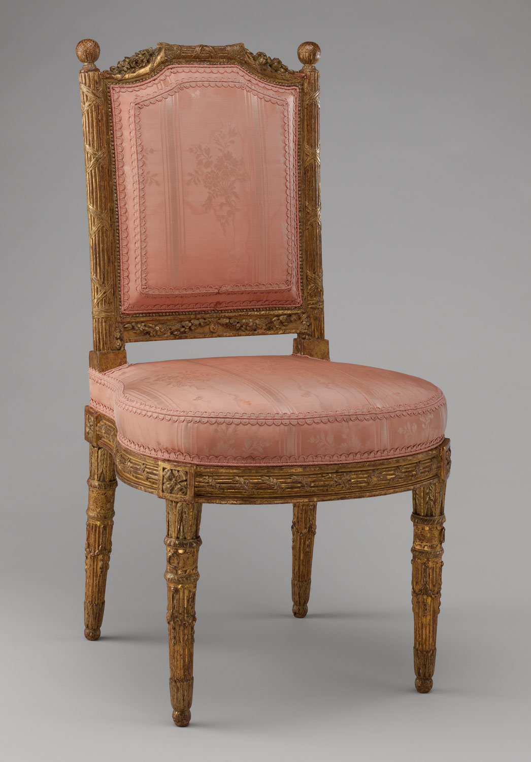 French baroque furniture -  Side Chair Chais La Reine One Of A Pair