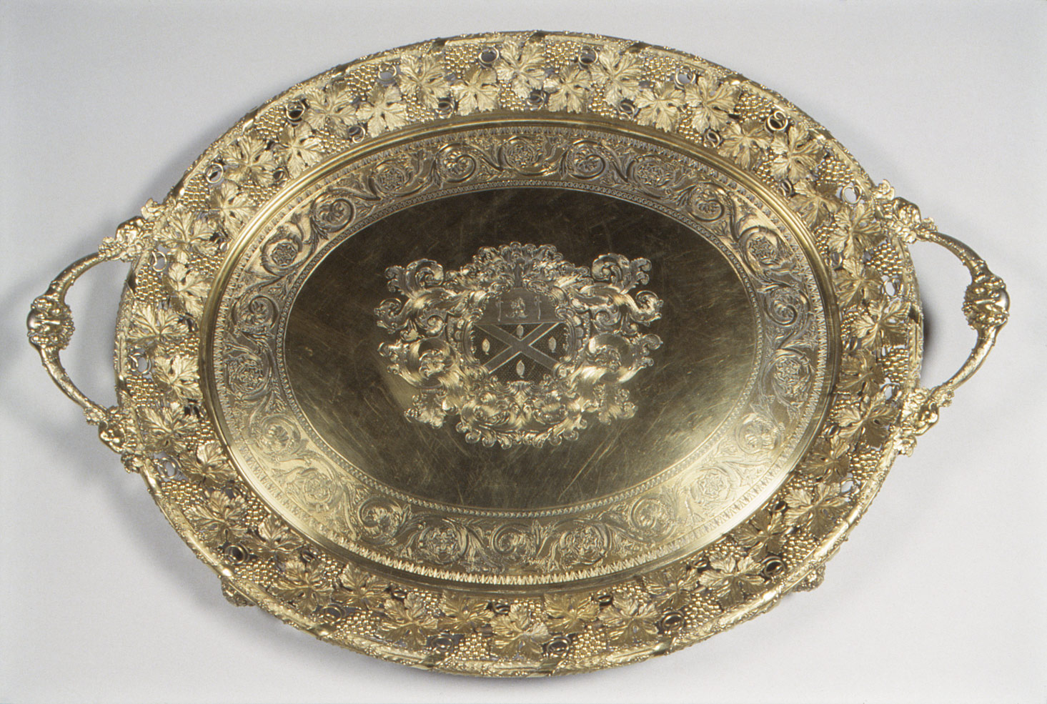 Tray with engraved arms of William Burrell (1791–1847)