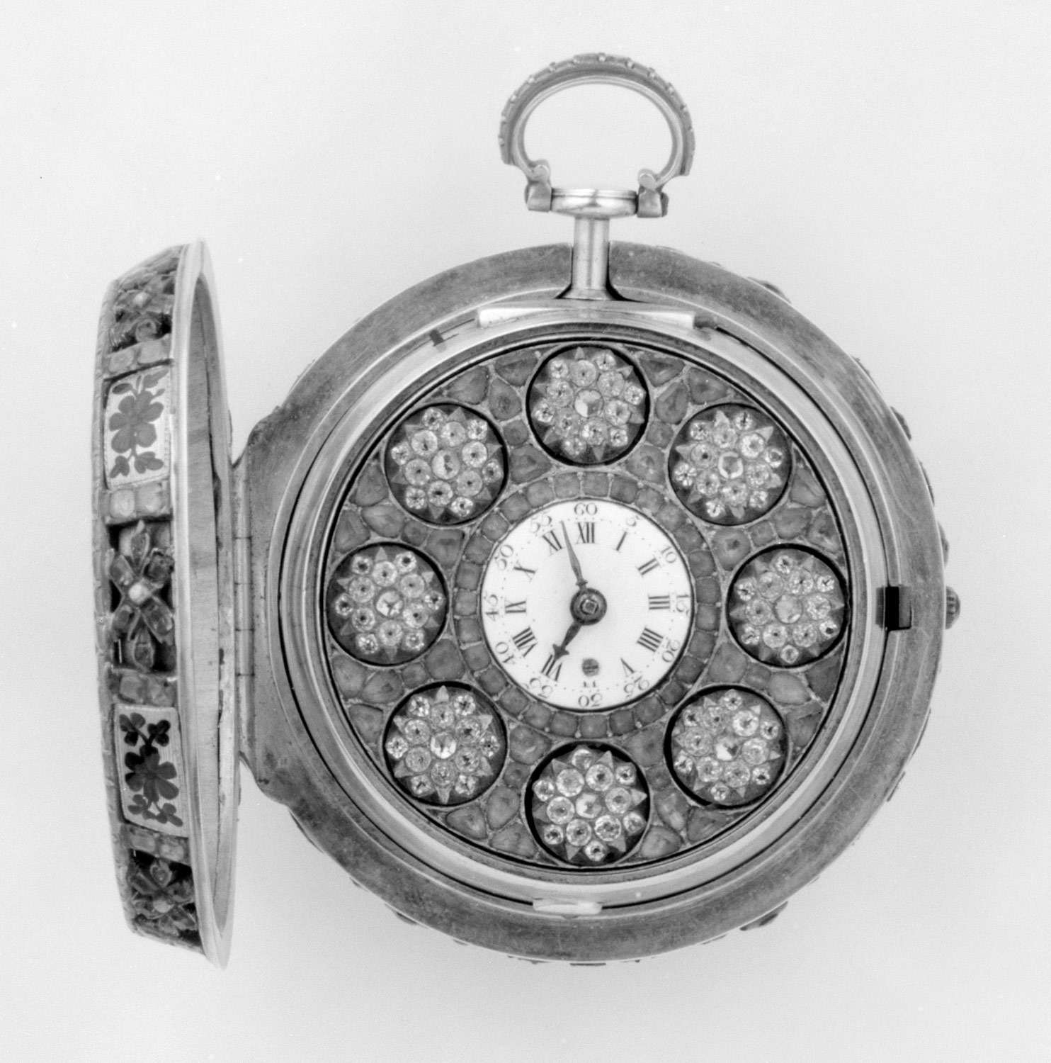 Pair-case automaton watch