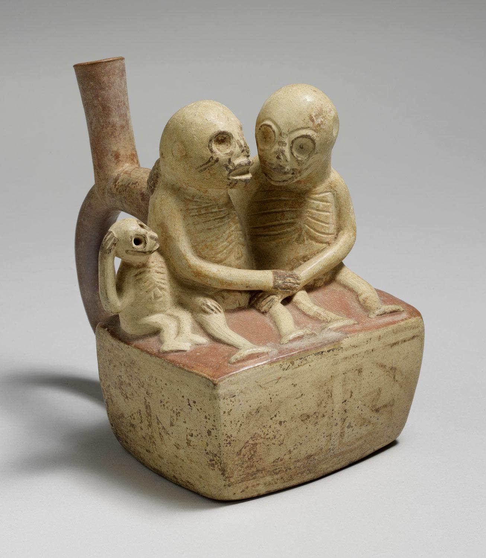 Bottle, Skeletal Couple with Child | Work of Art | Heilbrunn ...