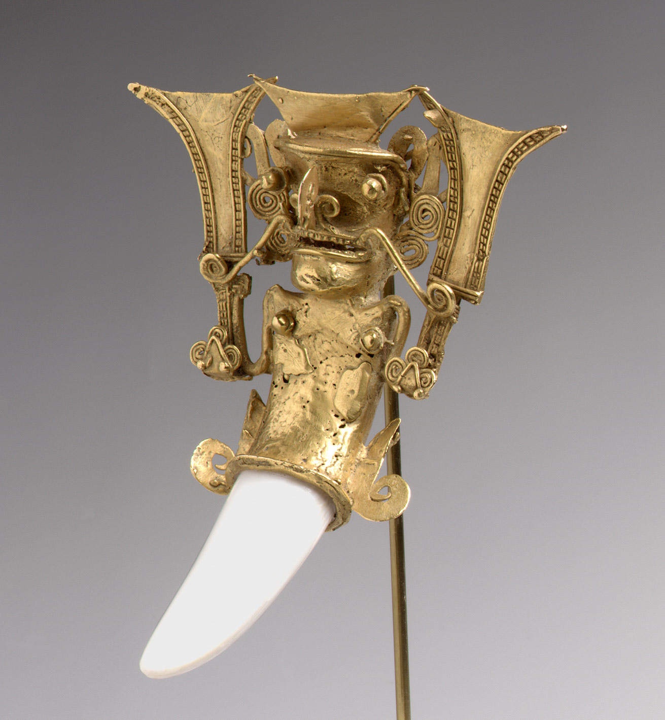 Bat-Nosed Figure Pendant