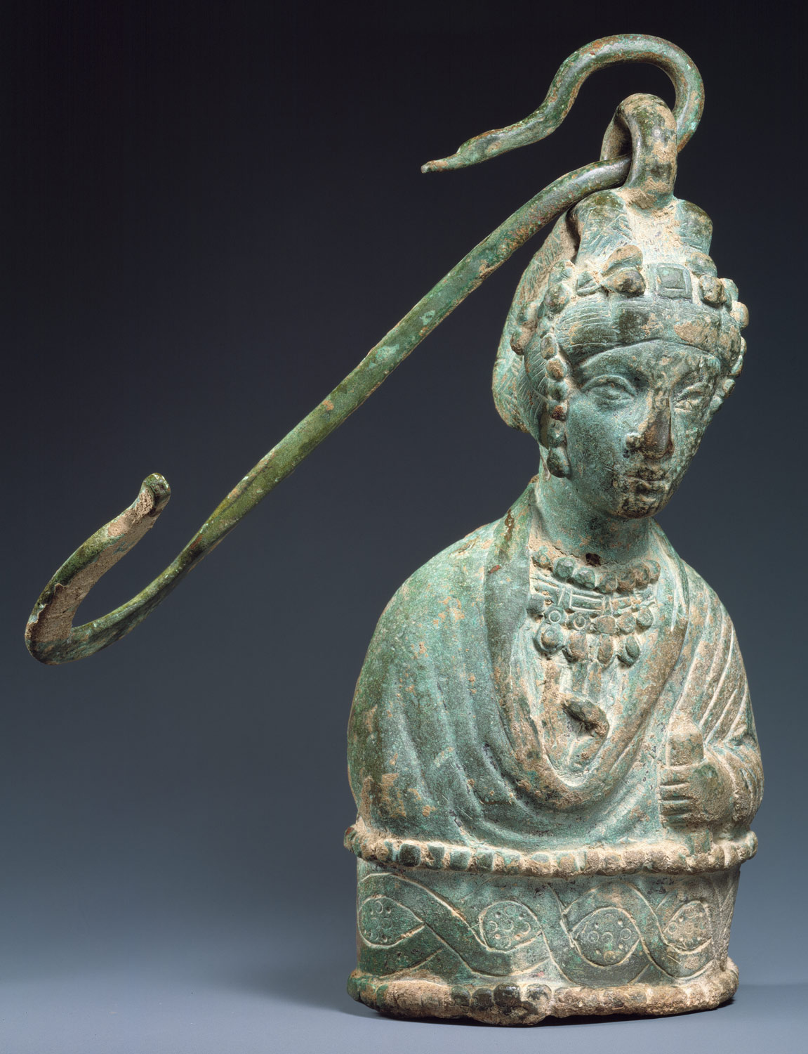 Steelyard Weight with a Bust of a Byzantine Empress and a Hook