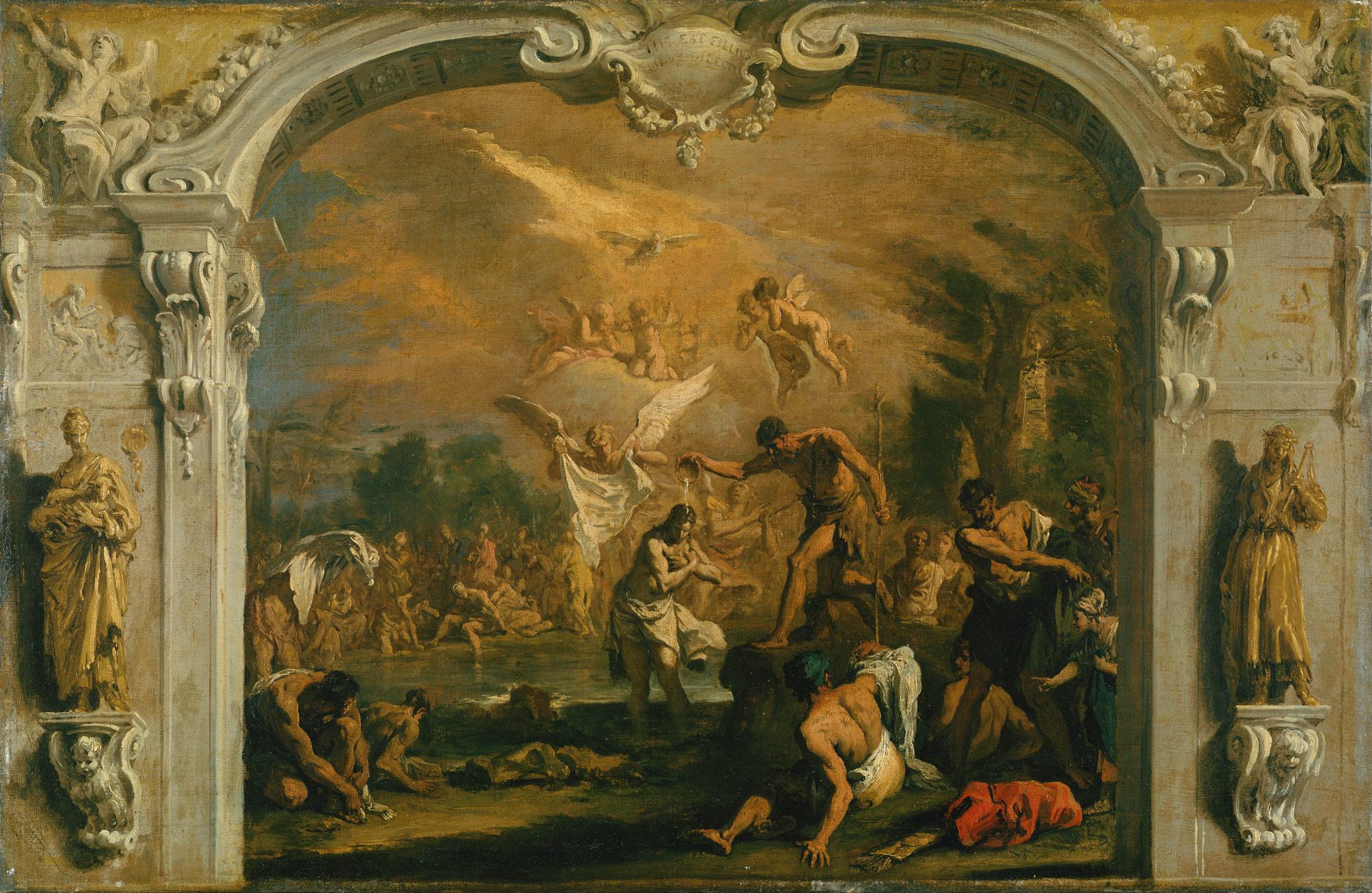 the baptism of christ sebastiano ricci 1981 186 work of art