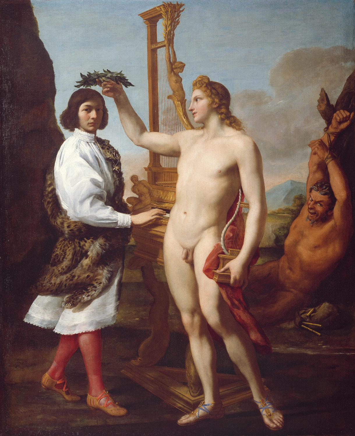 Marcantonio Pasqualini (1614-1691) Crowned by Apollo