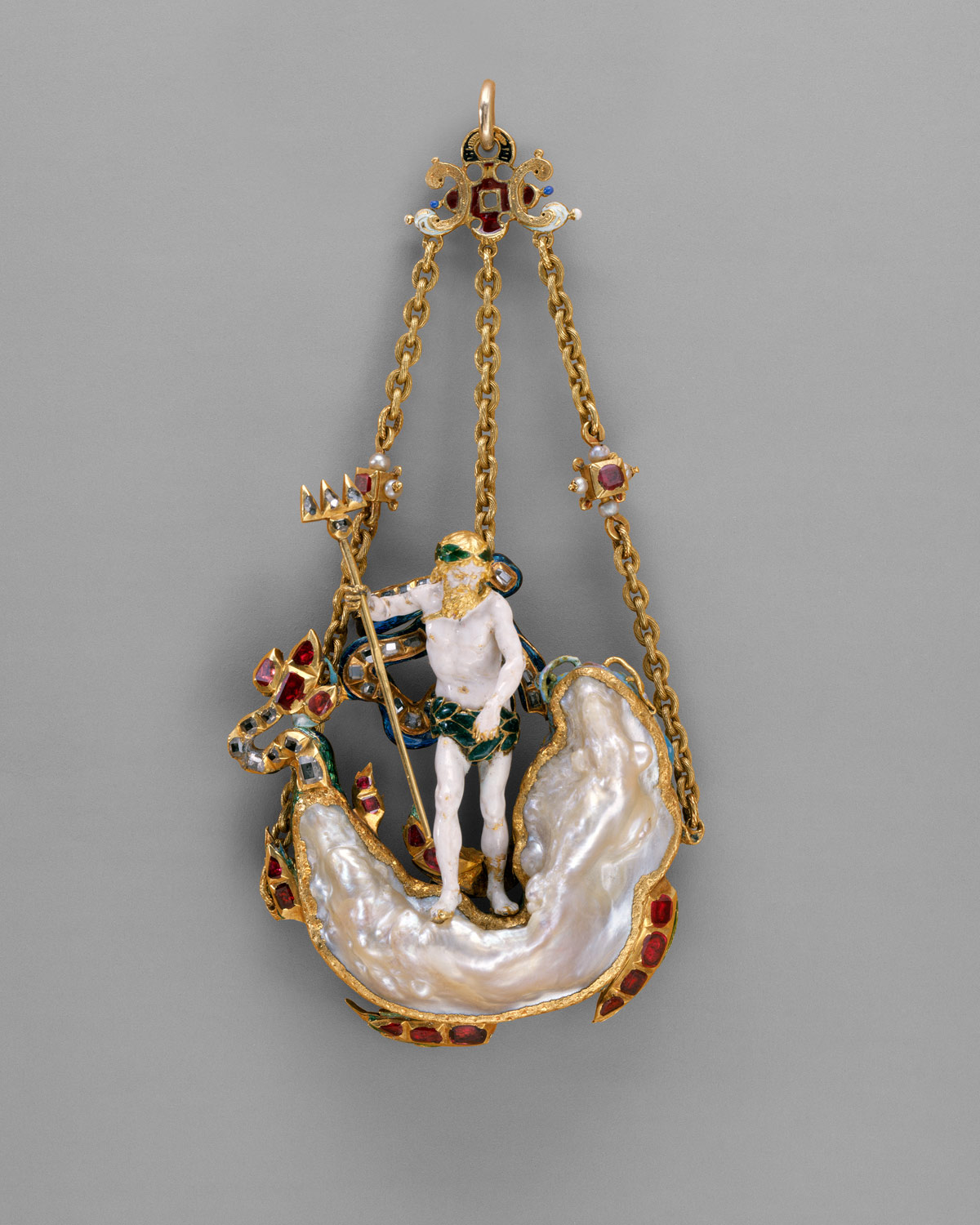 with of gold vermeil god pendant silver products in yellow the society poseidon sterling