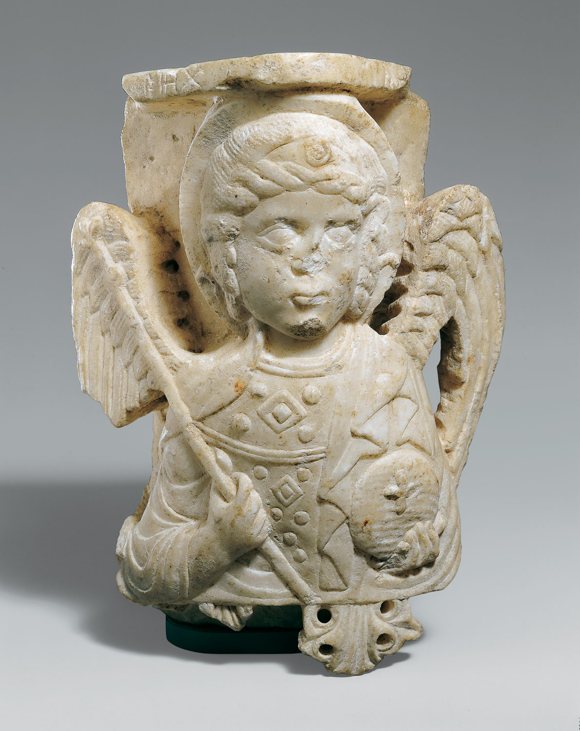 Capital with Bust of the Archangel Michael