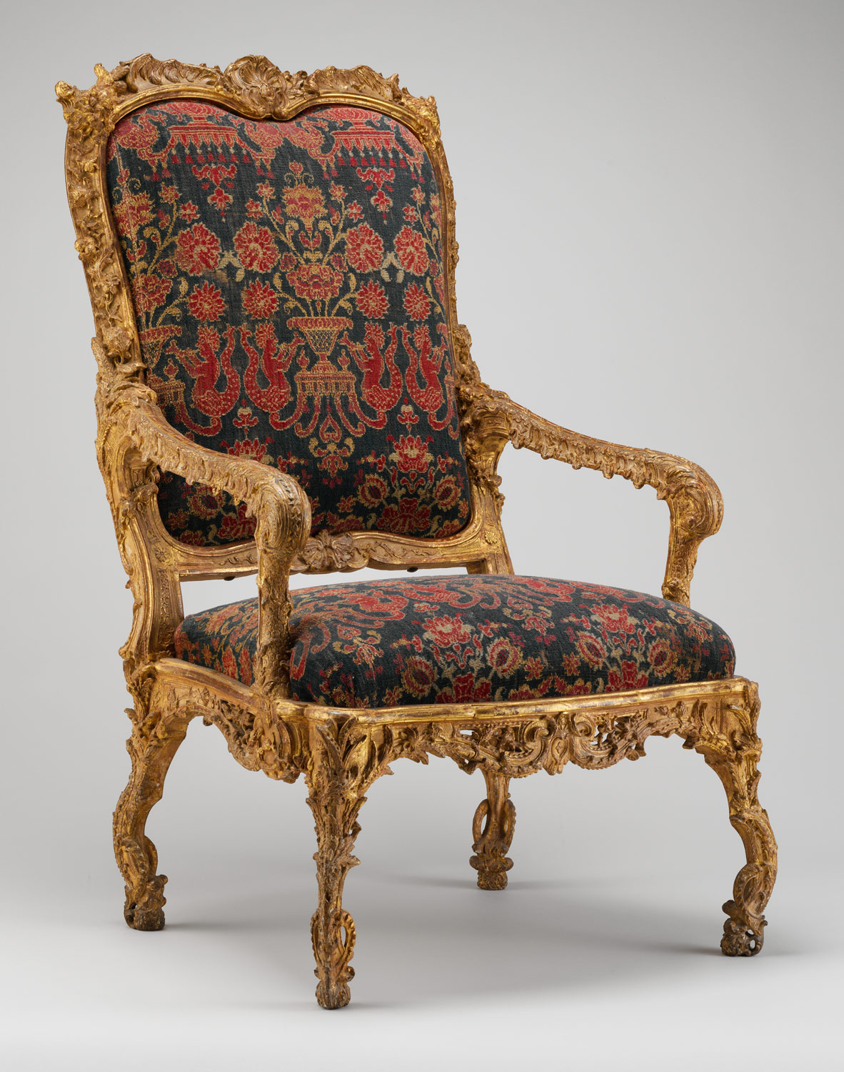 French baroque furniture - Armchair Fauteuil La Reine