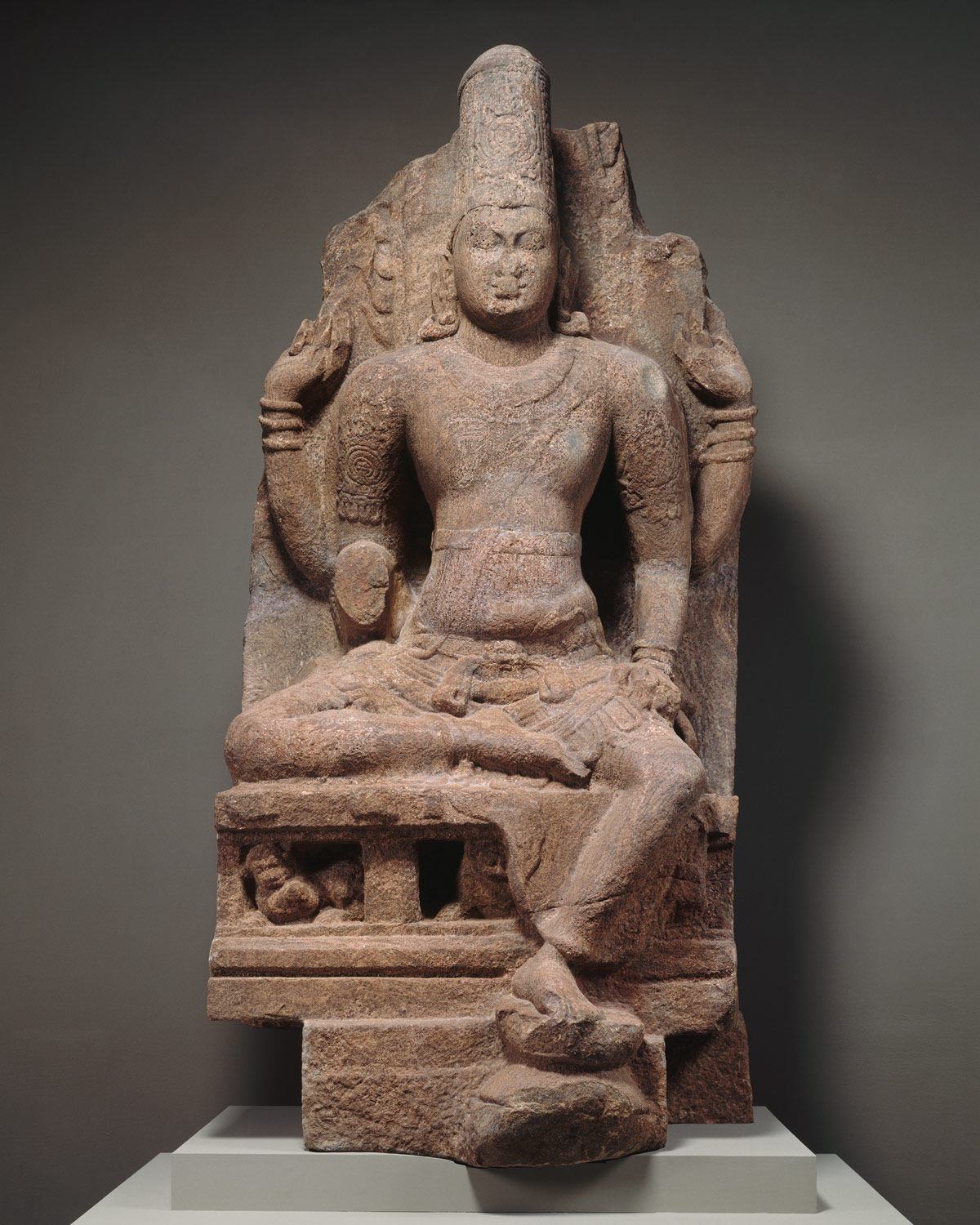 Seated four-armed Vishnu