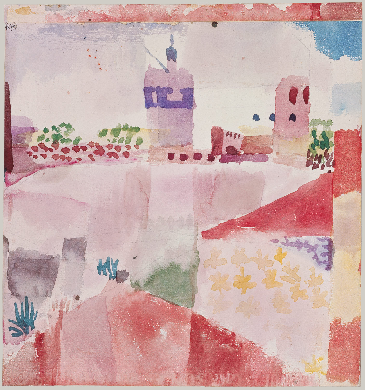 Tunis Hammamet with its Mosque Paul Klee Reproduction Fine Art Print
